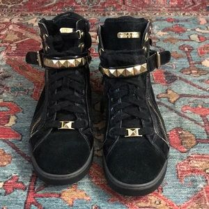 Black with gold accents Michael Kors Sneakers